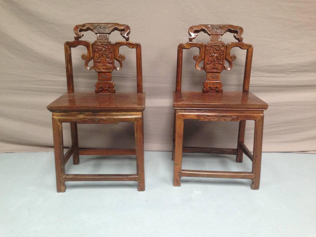 Paire chaises asiatiques | Puces Privées