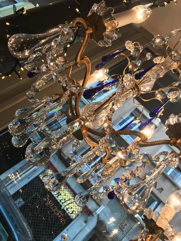 Lustre Pampilles Cristal 8 LumiÈres   Puces Privées