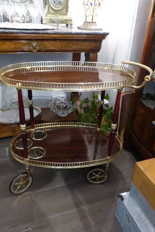 Table De Service A Roulette / Plateaux / Bar Roulant Vintage / Desserte | Puces Privées