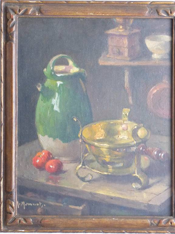 No - 13 - Nature morte à la cruche verte par Monnot Maurice . | Puces Privées