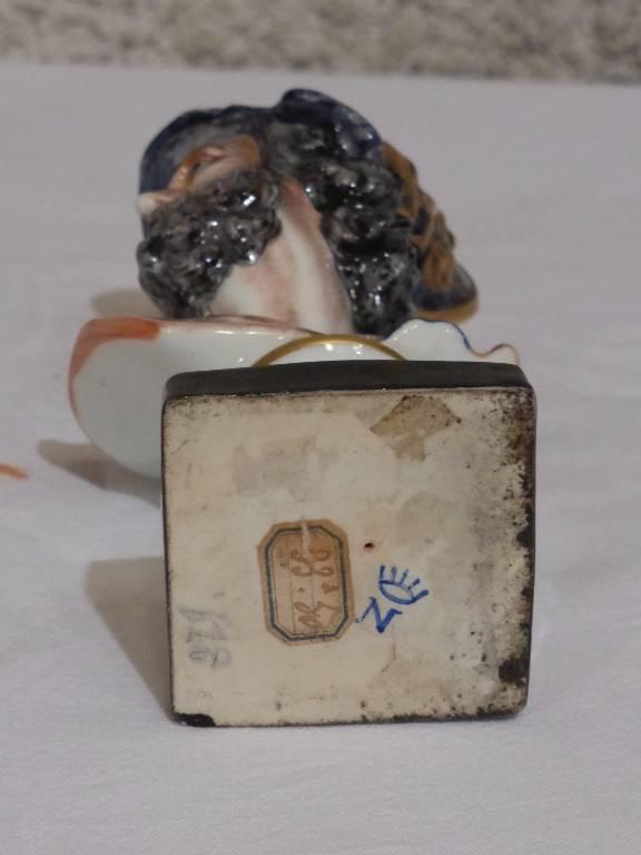 No - 42 - Porcelaine de Naples buste  Ajax   Puces Privées