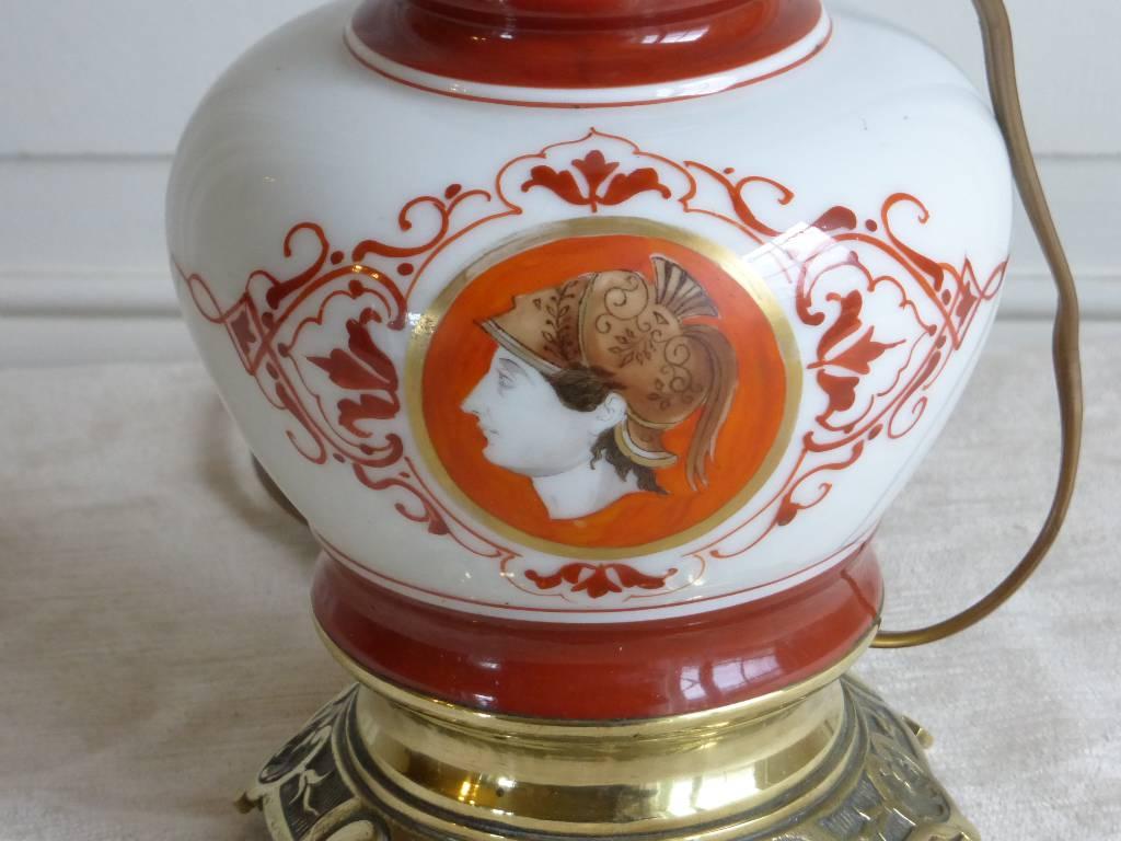 No - 61 - Lampe porcelaine et bronze 19ème siècle | Puces Privées