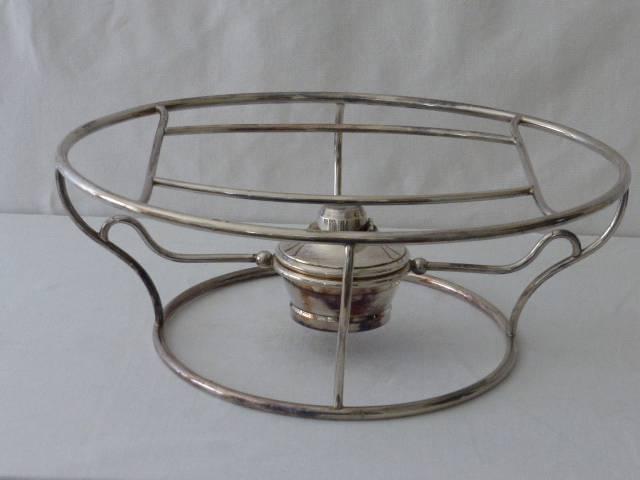 No - 43 - Chauffe plat en métal argenté par Gallia  20 ème  siècle | Puces Privées