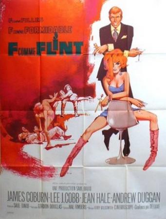 affiche cinéma F comme Flint, Affiches anciennes (cinéma, theâtre, publicitaire), Image | Puces Privées