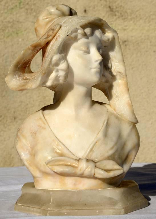 Buste marbre A.Saccardi   Puces Privées
