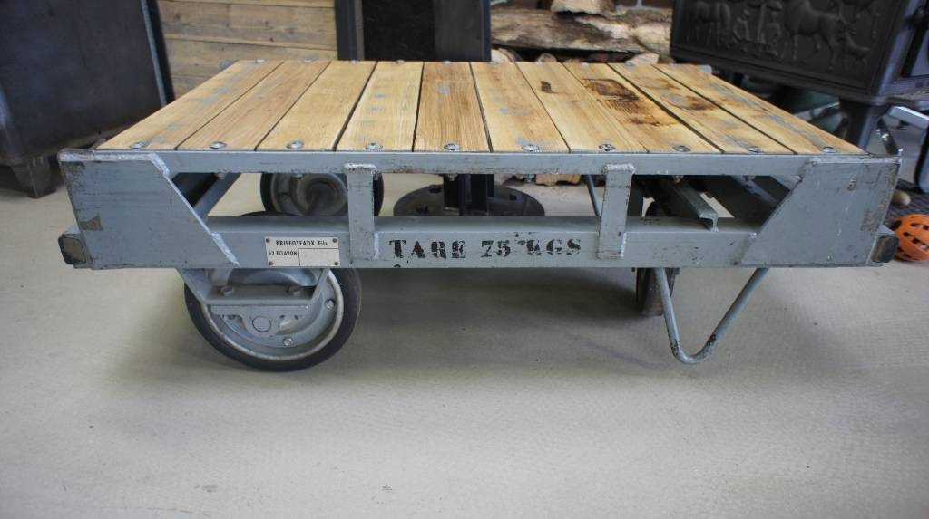 Ancien chariot PTT des années 70   Puces Privées