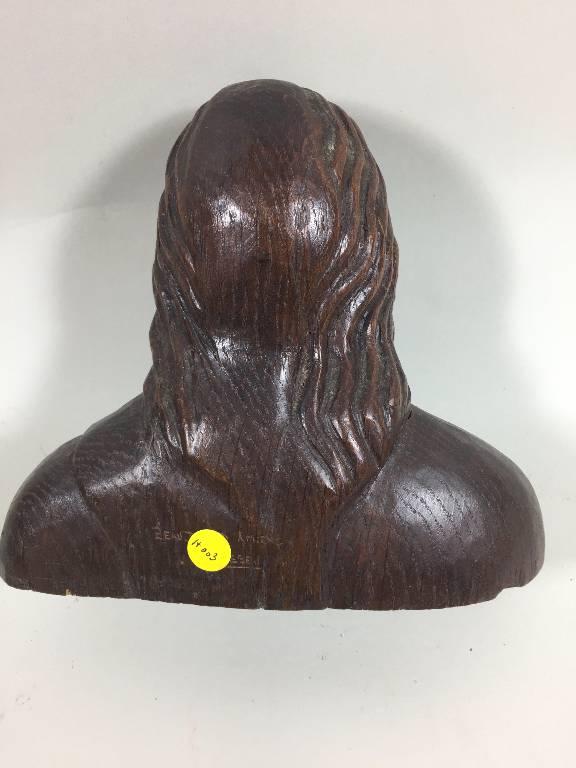 Buste de Christ en bois de chêne   Puces Privées