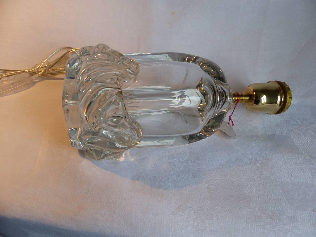 No - 293 - Lampe en cristal  DAUM  France , modèle Sirius de 1952 | Puces Privées