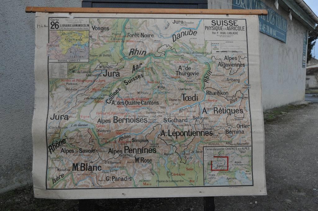 Carte d'école de la Suisse | Puces Privées