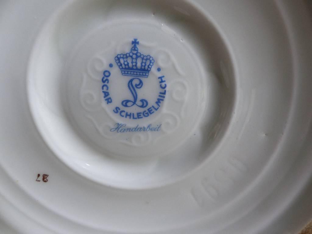 No - 301 - Pot couvert en porcelaine Oscar Schlegelmilch, Allemagne 1950 - 1972 | Puces Privées