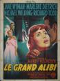 affiche cinéma Le grand alibi, Affiches anciennes (cinéma, theâtre, publicitaire), Image | Puces Privées