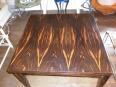 table à volet ART DECO en placage de palissandre de RIO,  atribuée à MERCIER FRERES, Tables, Mobilier   Puces Privées