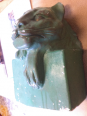 lionne en plâtre patiné SANDOZ, Sculptures autres matériaux, Sculptures   Puces Privées