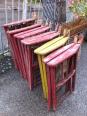 6 fauteuils pliants en bois ART DECO dans le gout de MALLET STEVENS, Fauteuils, Sièges | Puces Privées