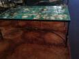 table basse en céramique et fer battu signée CERENNE VALLAURIS 1953, Tables basses, Mobilier | Puces Privées