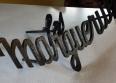 Plaque de maison en fer forgé ancienne peinte noire, Vitraux, ferronnerie, Pierre, Eléments d'architecture | Puces Privées