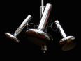 Suspension chromée 3 spots 70s, Suspensions, Luminaires | Puces Privées