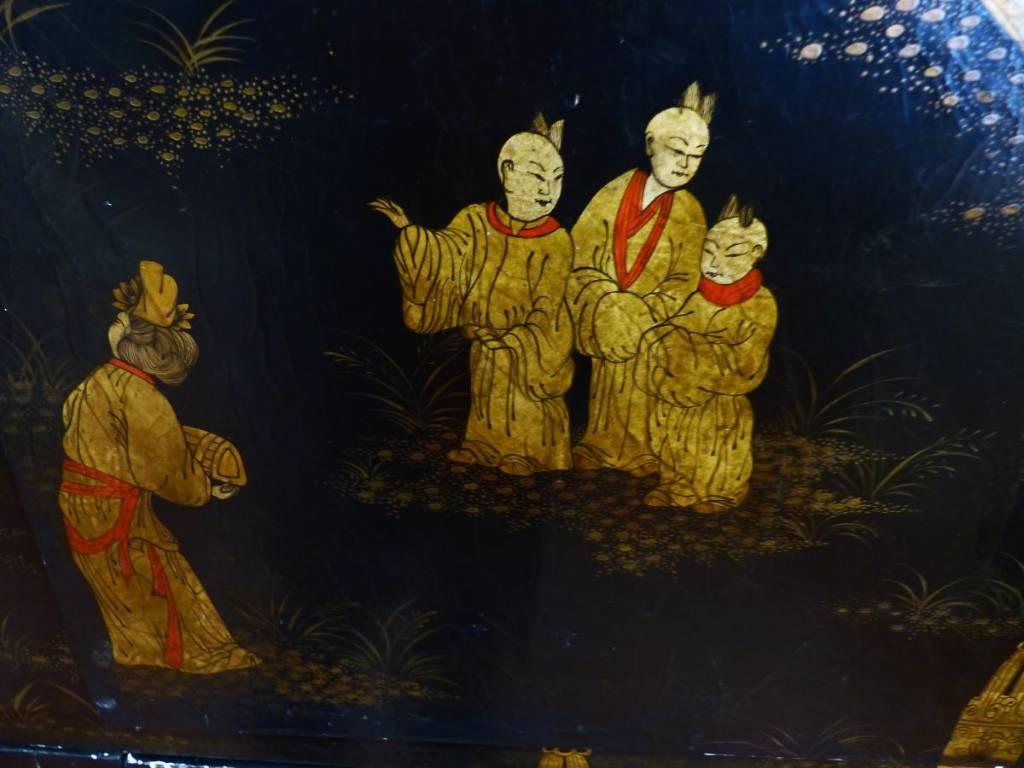 Cabinet Japonisant Louis Midavaine laque Japonisante | Puces Privées