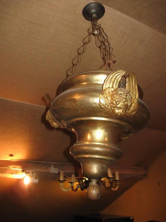 lustre suspension chapelle neo gothique viollet le duc neo renaissance circa époque XIX e | Puces Privées