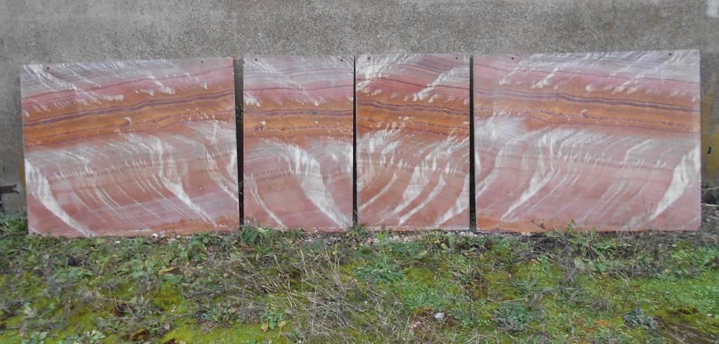 Plaques polies en pierre colorée   Puces Privées