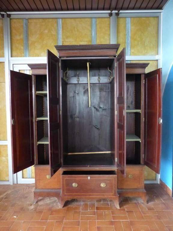 atypique meuble penderie dressing armoire xix eme acajou   Puces Privées