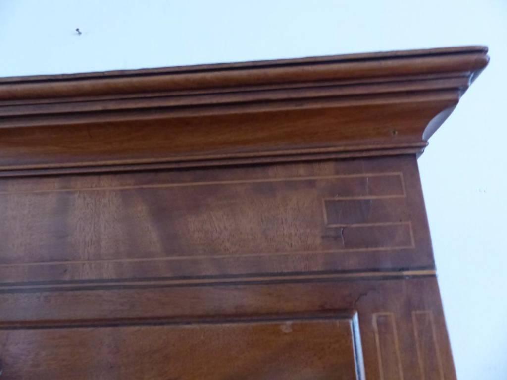 Grand semainier commode époque 1ere moitie xix e acajou flamme marqueterie | Puces Privées