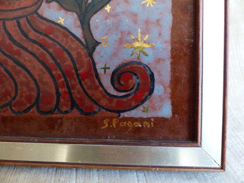 No - 340 - Céramique peinte par Sylvane Pagani  XX ème | Puces Privées