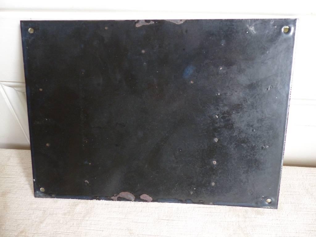 No - 346 - Plaque émaillée , clôture électrique 28 cm X 20 cm . | Puces Privées