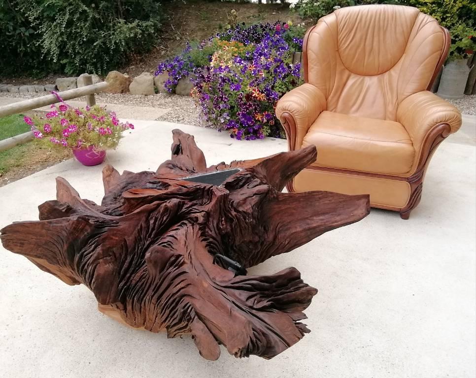 Table souche en chêne | Puces Privées