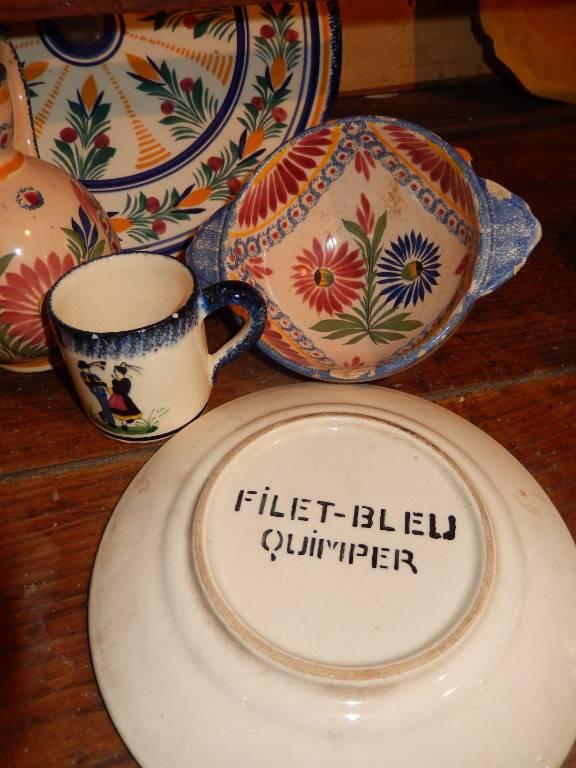 Lot de pièces en faience de Quimper | Puces Privées