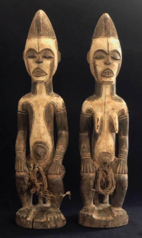 Doma Nigeria ancien et superbe couple d'ancêtres fétiche animiste animisme | Puces Privées