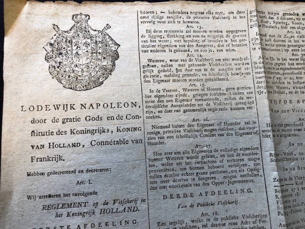 Affiche originale Hollande Lodewijk Napoleon 1808 Van Maanen Bonaparte Empire | Puces Privées