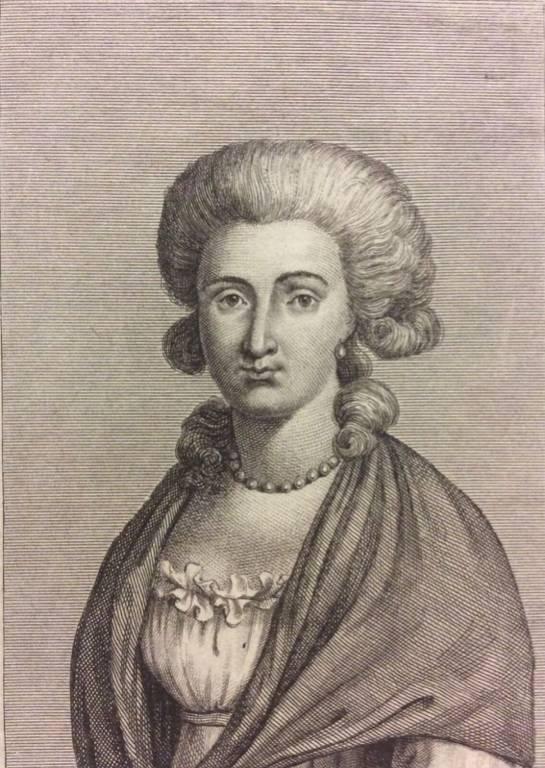 Élisabeth de France Soeur du roi Louis XVI gravure d'émigré C 1795 Très rare !   Puces Privées