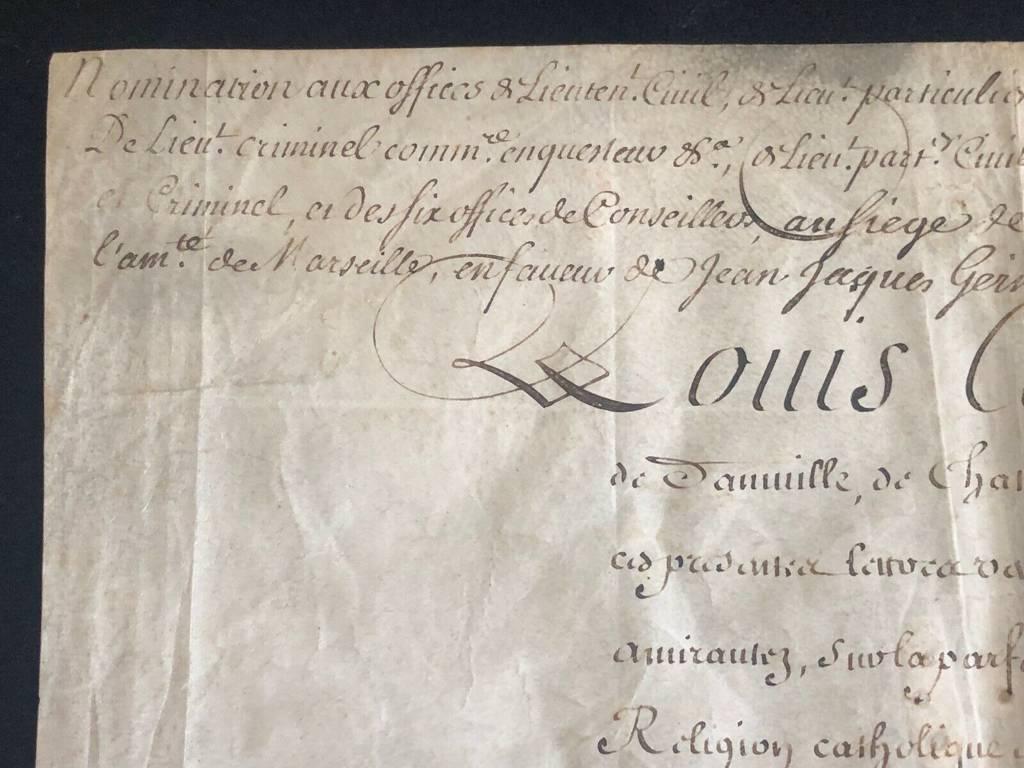 Autographe LOUIS-ALEXANDRE DE BOURBON Louis XIV Montespan DUC NOAILLES Saint-Cyr | Puces Privées