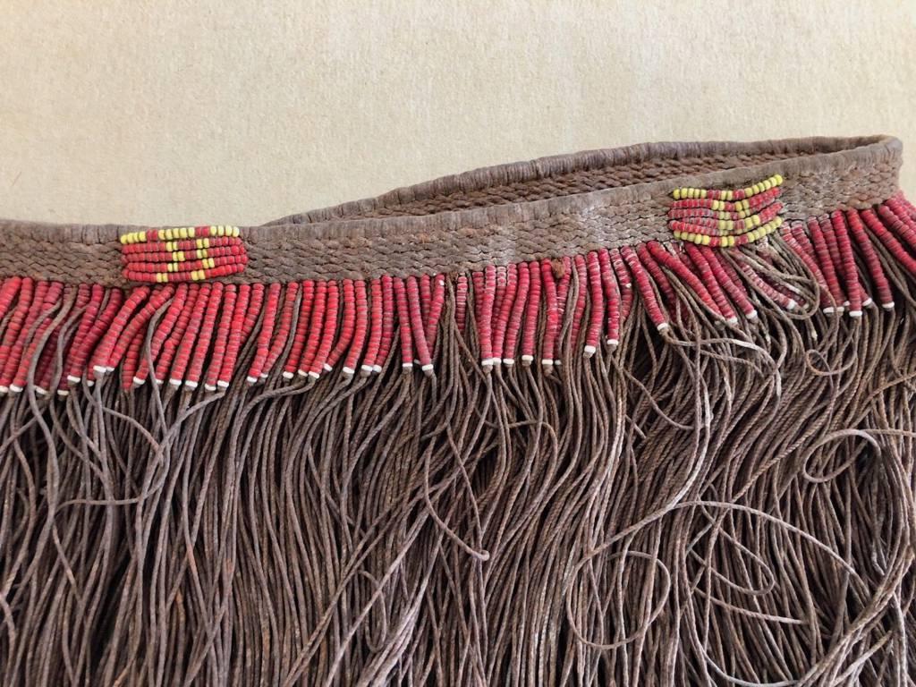 Pagne Kirdi Cameroun Afrique superbe ancienne collection long 70 cm hauteur 25 c | Puces Privées