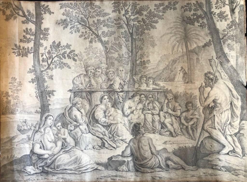 La prédication de saint jean-baptiste Rare Trois vierges à l'enfant nombre d'or | Puces Privées