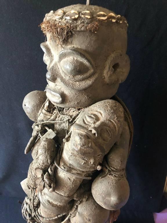 Grand fétiche Vaudou du Benin Africa Hauteur 89 cm Afrique Religion | Puces Privées