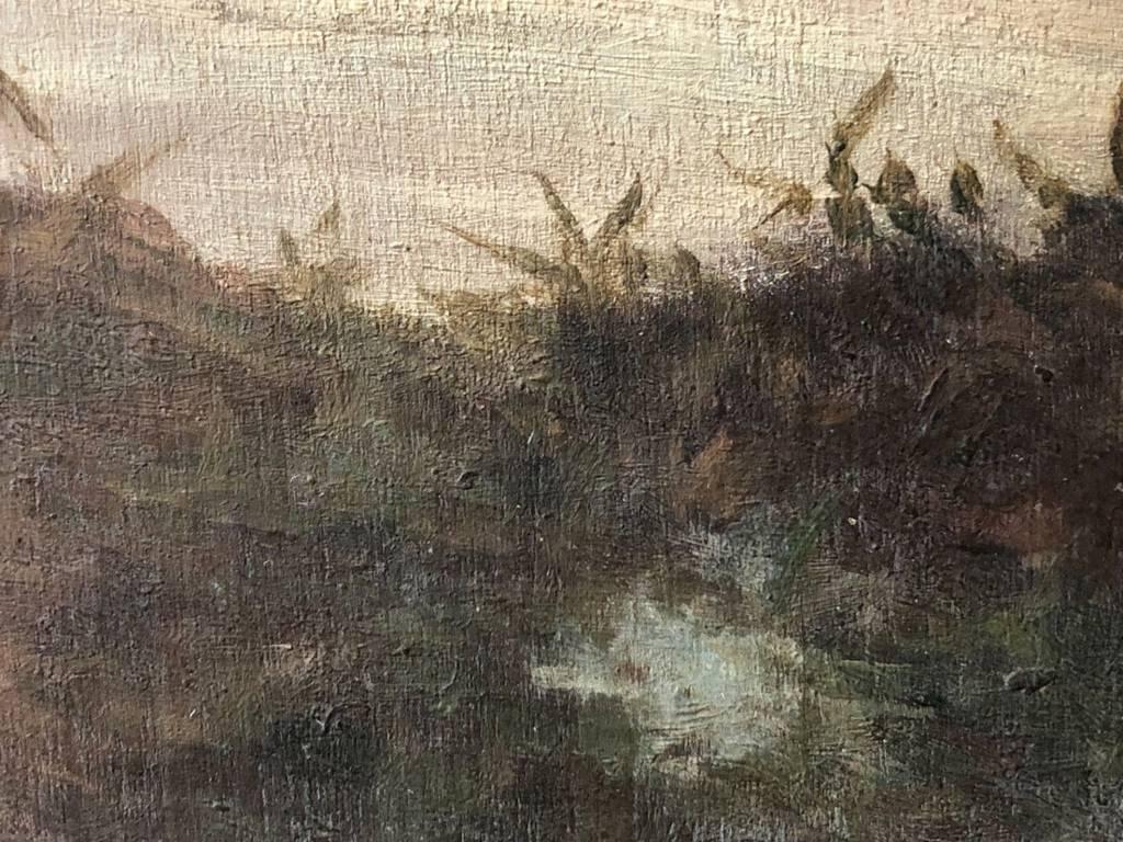 Peintre de Pont-Aven XIXe ou début XXe impressionnisme impressionniste Bretagne   Puces Privées
