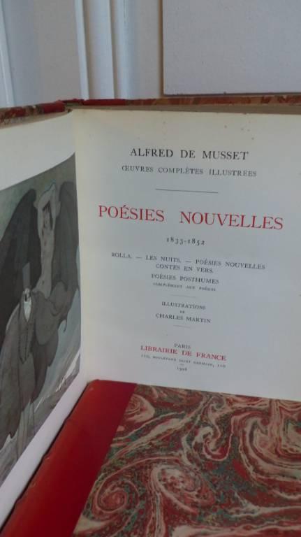 No - 367 - Alfred de Musset , Paris Librairie de France 1928,illustrations de Charles  Martin | Puces Privées