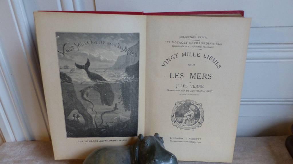 No - 368 - Voyages extraordinaires par Jules Verne , Vingt mille Lieues sous les mers , collection Hetzel | Puces Privées