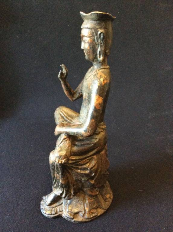 Bodhisattva Maitreya bienveillant pendant pensif South Koréa Japan Kyoto Bronze   Puces Privées