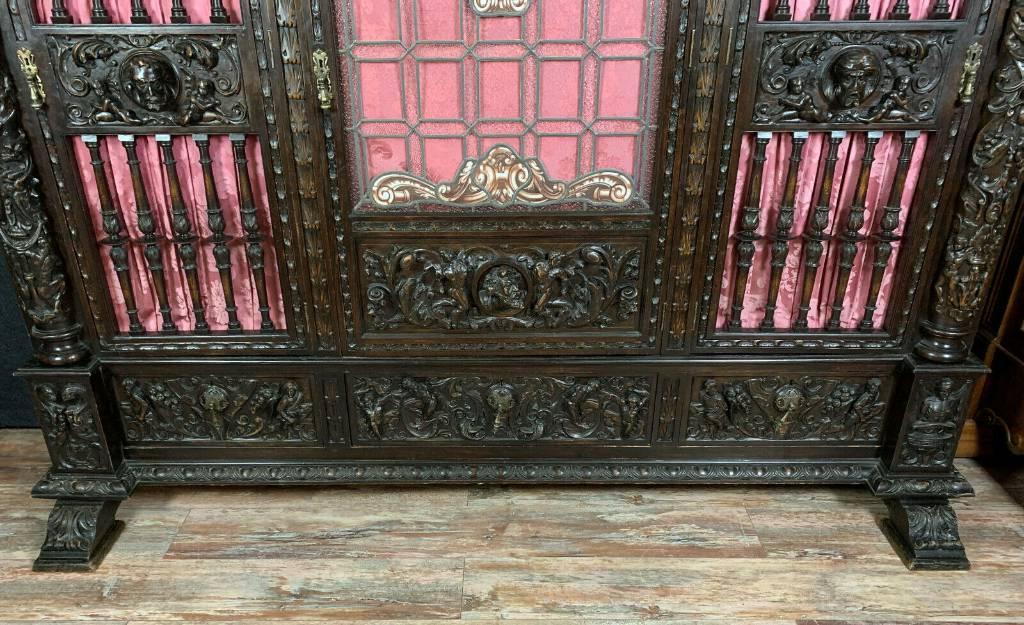 Bibliothèque Renaissance de Château en chêne massif | Puces Privées