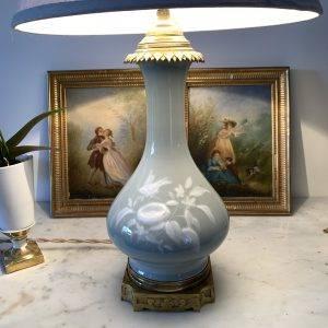 Lampe en Porcelaine Céladon | Puces Privées