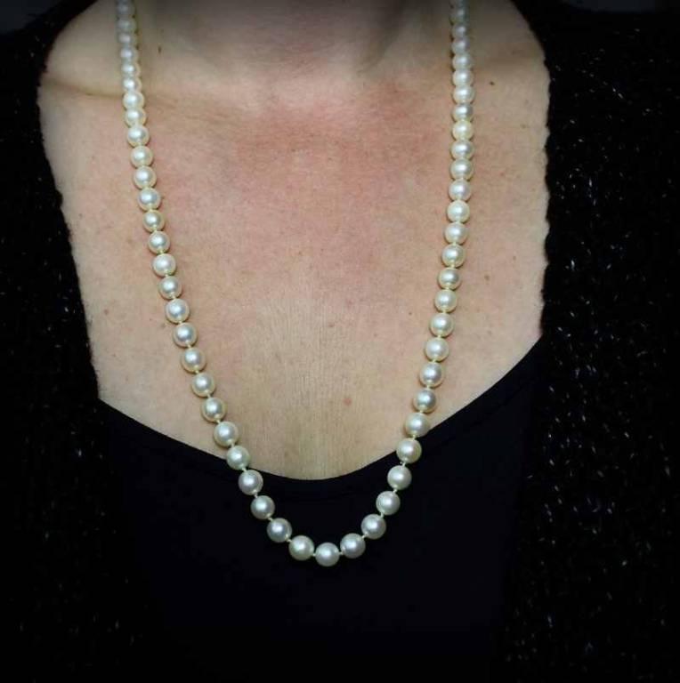 Collier-sautoir Perle de culture du Japon | Puces Privées