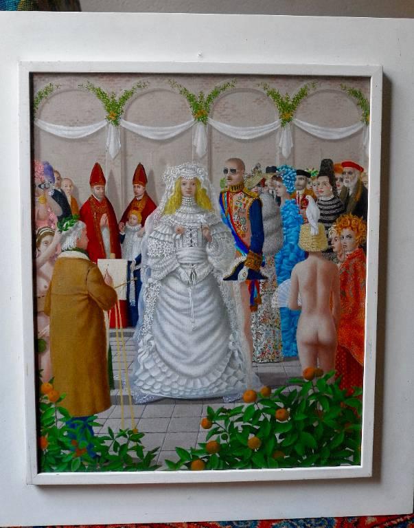 Tableau mariage mystique | Puces Privées