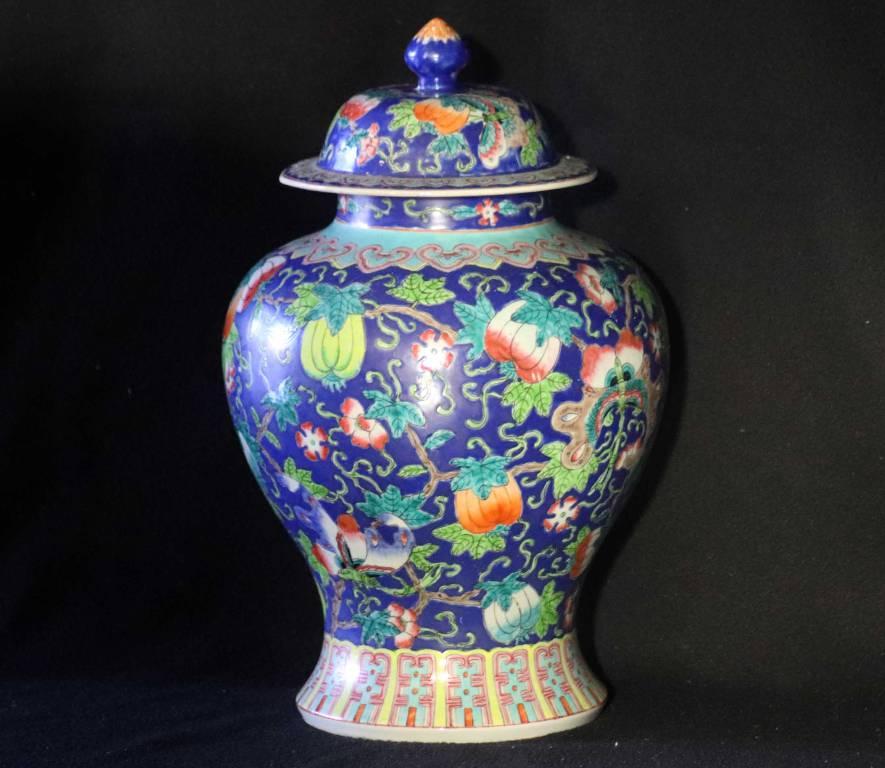 Pot Couvert de style Chinois   Puces Privées