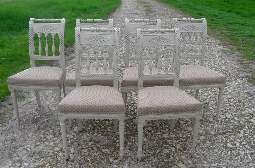 6 chaises Directoire | Puces Privées