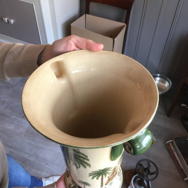 Vase style - Orientalisme - les Palmiers   Puces Privées