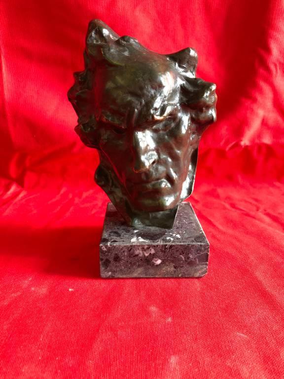 bronze tête d'homme | Puces Privées
