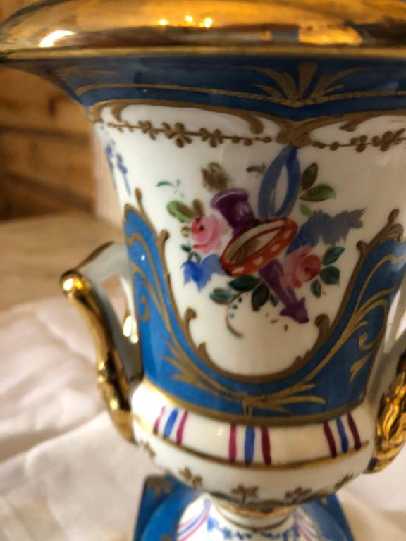 Vase bleu de Sevres | Puces Privées